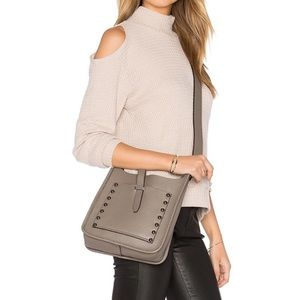 Rebecca minkoff unlined feed small bag gray